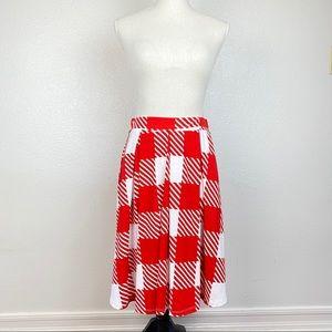 Lularoe Madison Skirt Red Buffalo Plaid